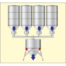 Sistem automat de dozare a mai multor produse