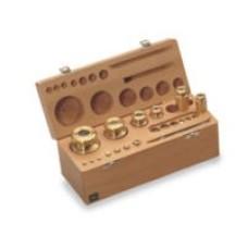 Set greutati etalon,inox, in cutie de lemn clasa M1 ( 343/344 )